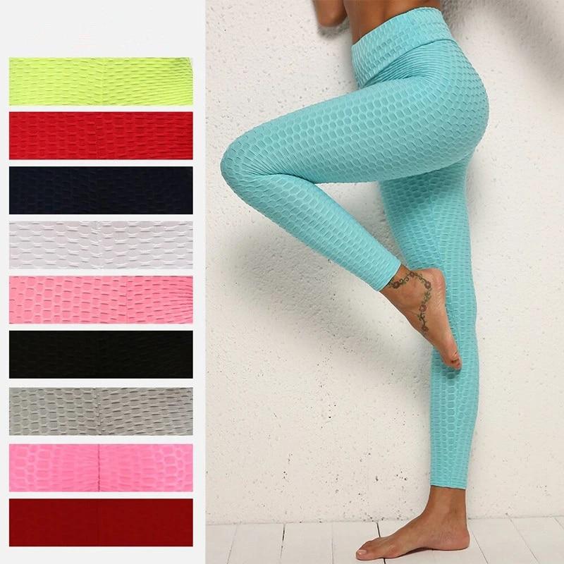 Women Anti-Cellulite Yoga Gym Leggings Fitness Push Up Butt Lift Elastic Pants
