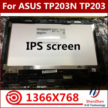 Original 11.6 inch lcd touch screen lcd assembly with frame bezel B116XAN04.3 For ASUS TP203N TP203