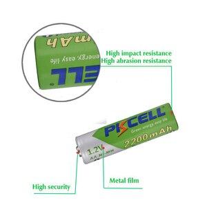 Image 3 - PKCELL şarj edilebilir Batteria NIMH AA ön şarjlı nimh piller aa 2200mAh 2 adet AAA 850mAh ile 2 adet 1 adet pil kutusu 2a aaa