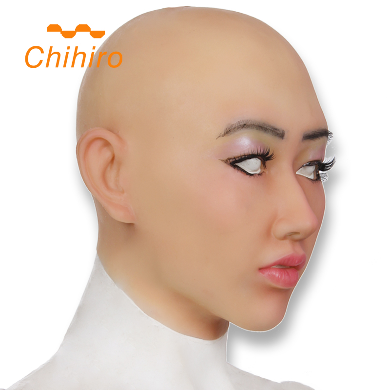Silicone Female Headwear Mask Realistic Goddess Face For Masquerade Crossdresser