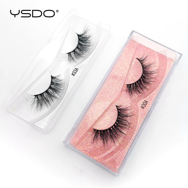 YSDO 1 Pair 3D Mink Eyelashes Fluffy Dramatic Eyelashes Makeup Wispy Mink Lashes Natural Long False Eyelashes Thick Fake Lashes 2