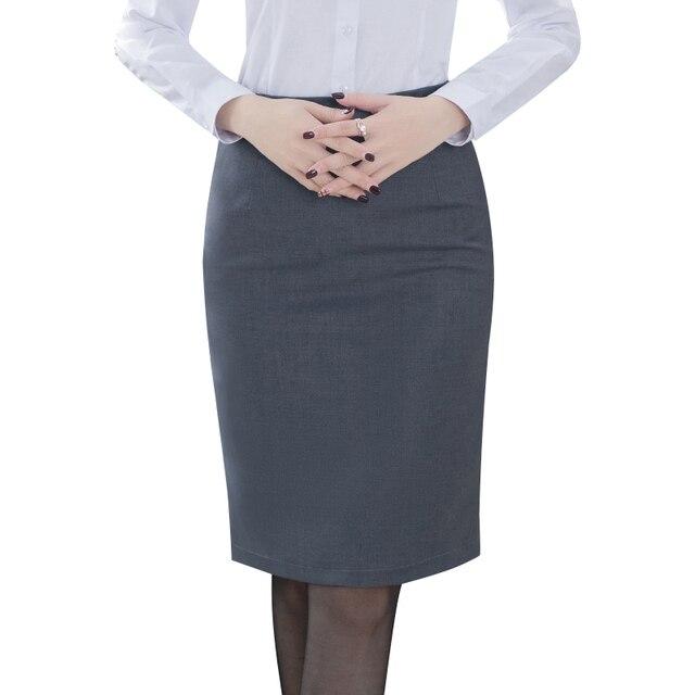 Элегантная женская юбка-карандаш с высокой талией 2