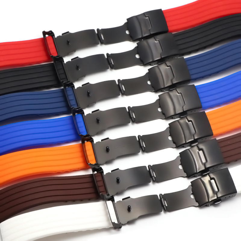 16mm 18mm 20mmwatch Strap 22mm 24mm Universal Watch Band Silicone Rubber Link Bracelet Wrist Strap Light Soft For Gear S3 Huawei