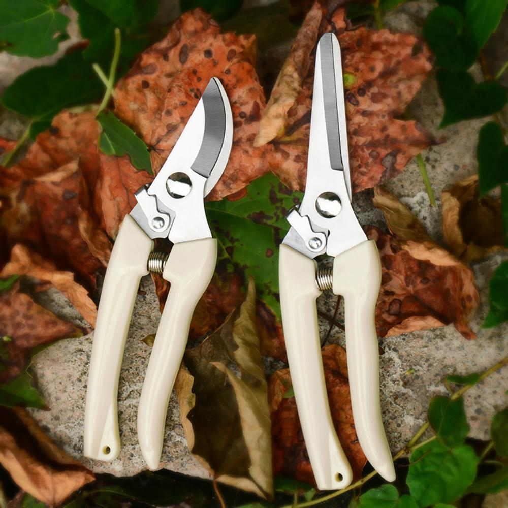 Stainless Steel Garden Scissors Plants Fruit Tree Pruning Shears Grafting Tool Flower Bonsai Pruner Gardening Secateurs Scissor