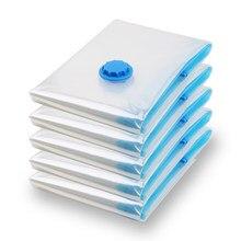 Saco de vácuo de armazenamento para casa organizador transparente borda dobrável selo comprimido reutilizável cobertor roupas pacote de poupança
