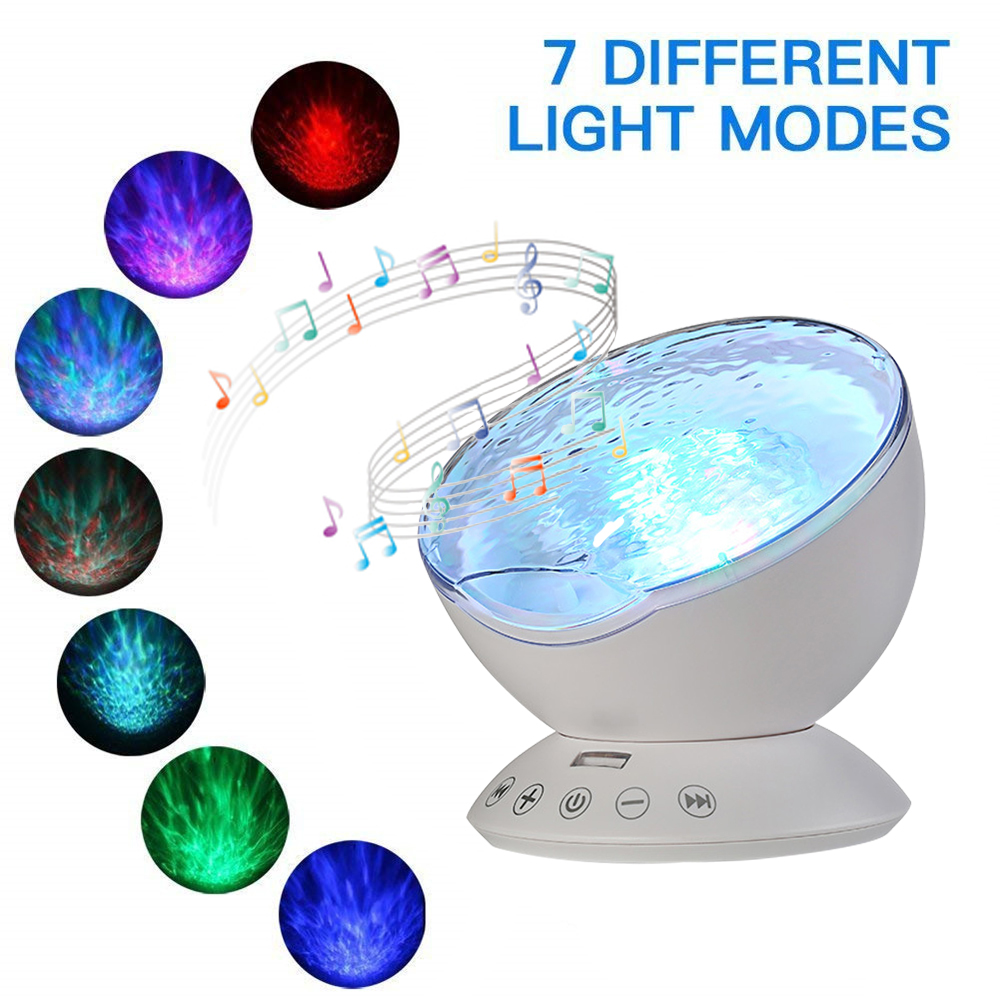 Elecstars USB Lamp LED Night Light Galaxy Projector Ocean Wave Projector Remote Control Ocean Wave With 12 LED 7 Color Changing