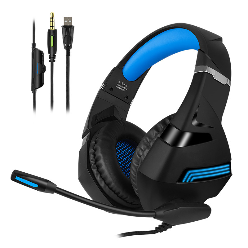 Gaming Headphones E sports headset wired gamer Earphone Microphone for PS4 Laptop mobile phone desktop computer recording in Headphone Headset from Consumer Electronics