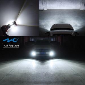 NAO H11 светодиодный HB4 9006 HB3 9005 Автомобильный светодиодный H10 H8 H16 5202 противотуманные лампочки H9 2835SMD 1300LM 12V авто, вождения, бега, лампа белый 6000K