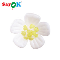 Sayok Inflatable LED Decoration Hanging Flower Glowing with 16 Colors for Home Bar Wedding Party Stage Decorations