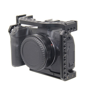 Image 3 - Protective Camera Cage for Canon EOS R w/ Coldshoe 3/8 1/4 Thread Holes Camera Video Stabilizer Quick Release Plate Bracket