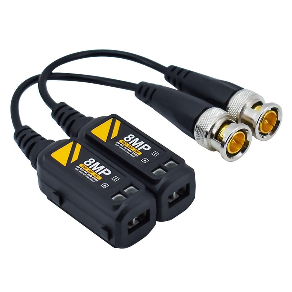 1pair HD 8MP BNC Video Balun Connector Support HD AHD/CVI/TVI Camera Signal Channel