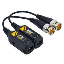 Conector de vídeo de câmera bnc hd 8mp, 1 par de conexão com suporte hd ahd/cvi/tvi e canal de sinal