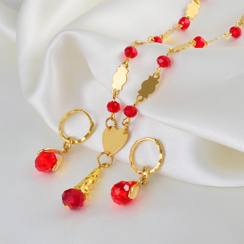 Women's Colored-Crystal Jewelry Sets