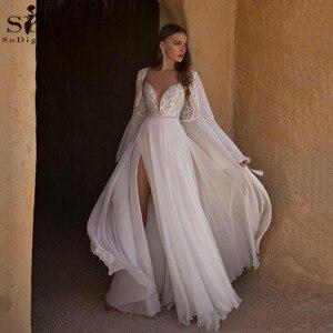 Женское свадебное платье It's yiiya, белое платье с разрезом и блестками на лето 2020