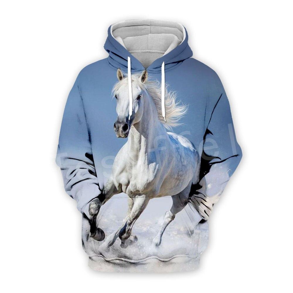 Tessffel Animal Strong Horse Art Unisex Colorful Tracksuit Casual Harajuku 3DPrint Hoodie/Sweatshirt/Jacket/Men Women S-9