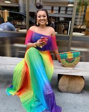 فستان أفريقي للنساء شيفون بوبو فساتين قفطان ماكسي فستان طويل dashiki رداء لحفلات السهرة
