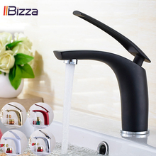 Bathroom Sink Faucet Black/White/Red Basin Faucet Gold Sink Tap Bath Mixer Water Taps Brass Modern Multi Tap Hot&Cold Crane 1901