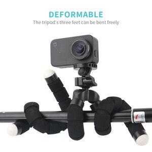 Image 3 - Rp mini flexível esponja polvo tripé para iphone xiaomi huawei smartphone tripé para câmera gopro acessório com clipe de telefone