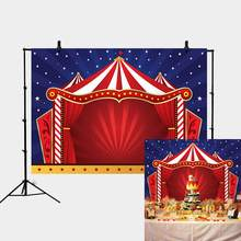 Birthday Carnival Photography Backdrop Red Tent Circus Party Banner amazing show background Photo Studio shooting Booth XT-4567(China)