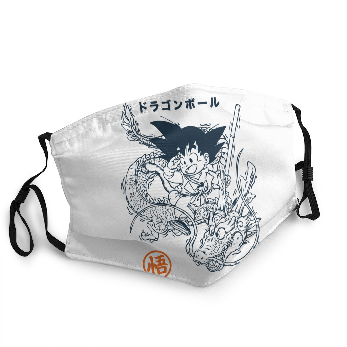 Goku And Shenron Dragon Ball Reusable Face Mask Vegeta Dbz Anime Harajuku Anti Bacterial Dustproof Protection Cover Respirator