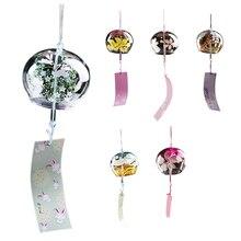 Wind-Chimes Japanese Door-Decoration Glass-Painting Handmade Girls Creative Gift