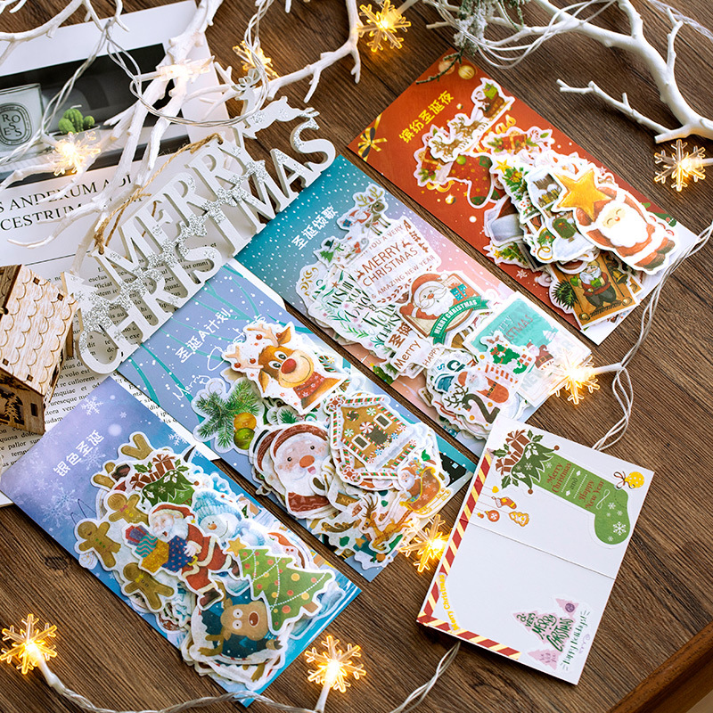 60 Pcs Christmas Stickers Cute Stickers Bullet Journal Stickers Scrapbooking Decoration Christmas Gift For Kids Stationery
