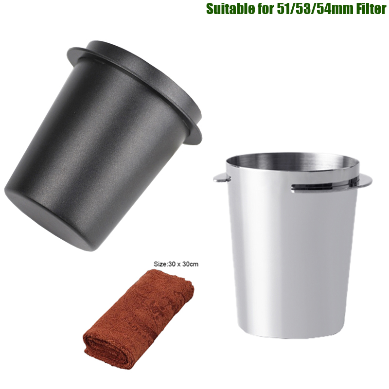 Coffee Dosing Cup Stainless Steel Coffee Powder Feeder Grinder Assistant for 51/53/54mm Espresso Machine