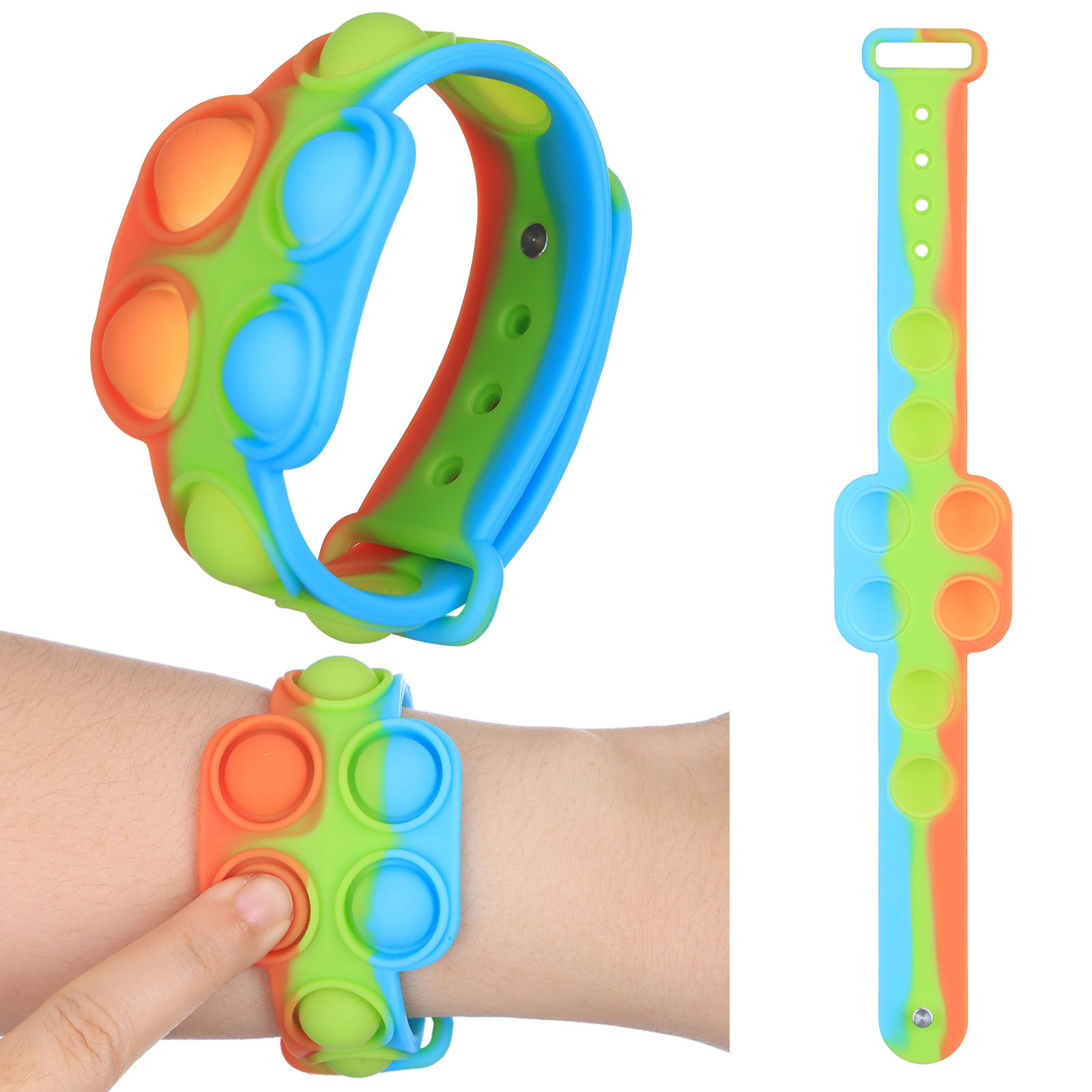 Игрушка-антистресс для рук, снятие стресса с чувствительности, игрушка-антистресс, мини-браслет для декомпрессии, для людей с аутизмом