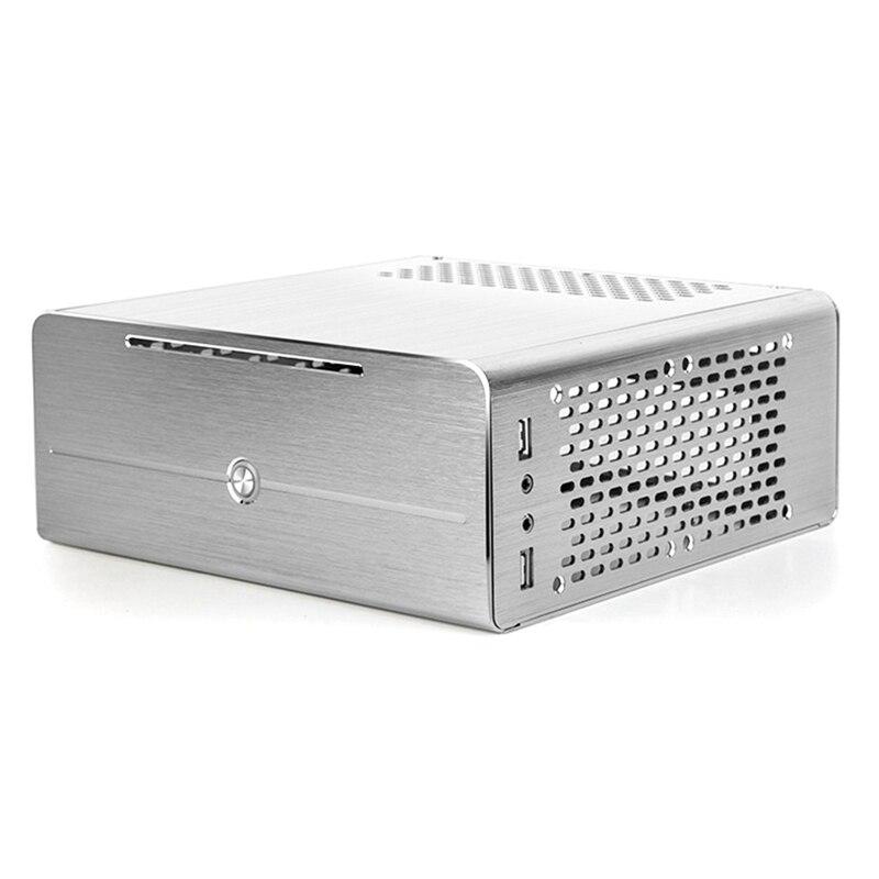 Mini liga de alumínio caso htpc micro-computador