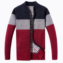 Winter clothes men cardigan knit jacket  sweater autumn and winter collarless shirt mens outerwear roupa masculina male jackets
