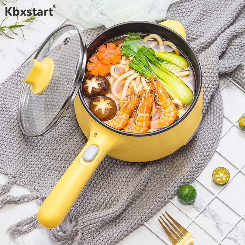 Electric Cooker 1.2L Stainless Steel Multicooker Non stick Coating Rice Cooker Frying Pan Frying Pan Adjustment 2 Gear|Multicookers| |  - title=