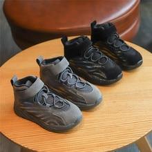 Autumn Winter Kids Boots Boys Shoes Genuine Leather Fashion Ankle Snow Boots Plush Warm Sneakers Waterproof Children Martin Boot цена в Москве и Питере