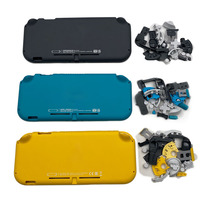 닌텐도 스위치 라이트에 대한 교체 플라스틱 쉘 케이스 커버 NSLite 콘솔 하드 하우징 쉘 페이스 플레이트 커버 버튼 키트