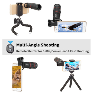 Image 4 - Apexel kit lente do telefone olho de peixe grande angular macro 18x telescópio lente telefoto para iphone xiaomi samsung galaxy telefones android