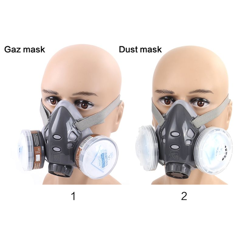 Hb9f27d81fe88461ab1df70e4a12495b8d Full Facemask Respirator Gas Mask Filter Dust Protective Facepiece Mask For Paint Spraying M26 20 Dropship
