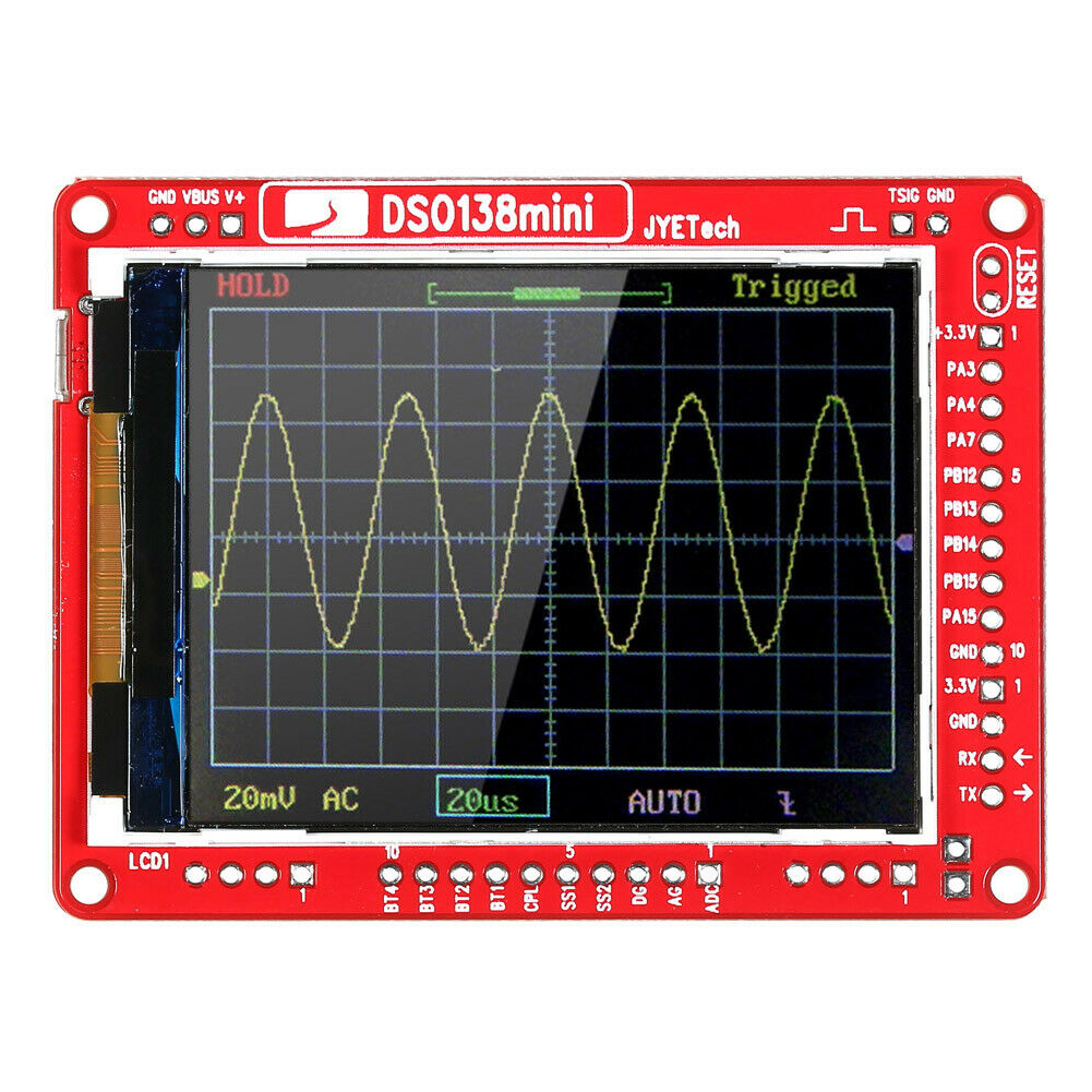 <font><b>DSO138</b></font> <font><b>Mini</b></font> Electronic Learning With Case Portable Digital Analyzer SMD Parts Test DIY Practical Pre-soldered Oscilloscope Kit image
