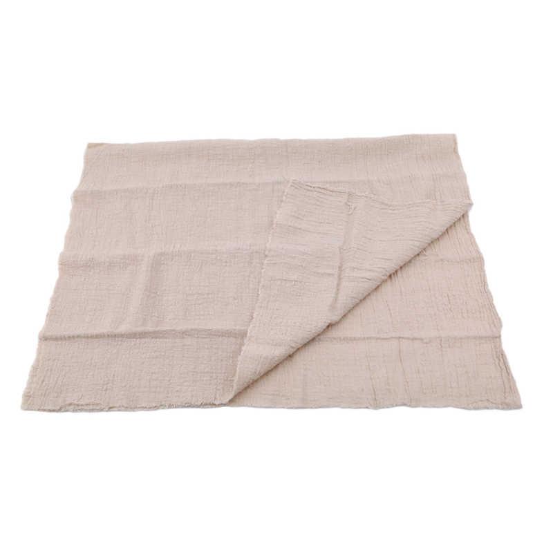 Servilleta de lino de algodón Vintage servilletas de mesa de postre Mesa decorativa de Color sólido Simple estilo japonés servilleta de tissu