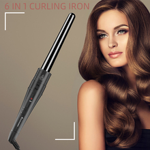 Professional 6 In 1 Hair Curler Hair Mini Ceramic Curling Iron Curling Wand Electric Hair Styler Pro Styling Tool Hair Crimper стоимость
