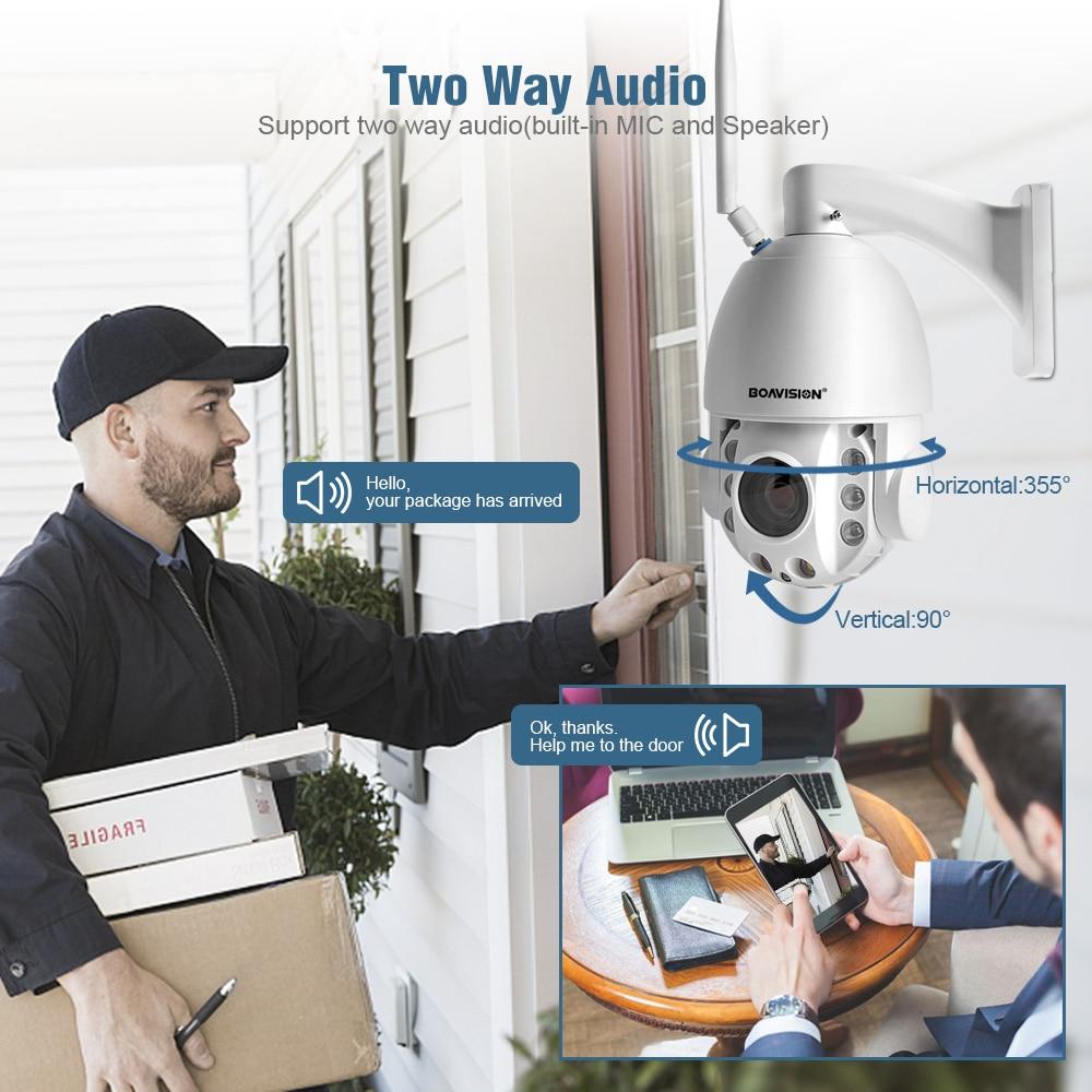 1080P 5MP PTZ WiFi IP Kamera Outdoor 20X Zoom Zwei Weg Audio Full Farbe Nachtsicht IR 80m 2MP Sicherheit CCTV Kamera P2P CamHi