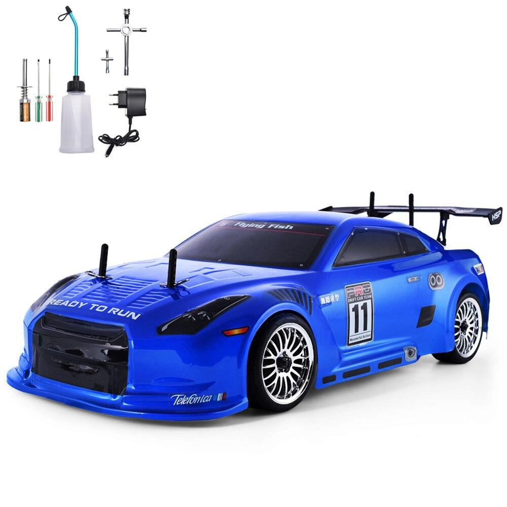 HSP RC автомобиль 4wd 1:10 на дороге гоночный двухскоростной Дрифт автомобиль игрушки 4x4 Нитро Газ мощный высокоскоростной хобби автомобиль с дис...