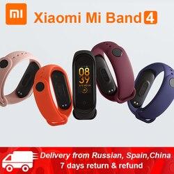 Оригинальный Xiaomi mi браслет 4 mi Band 4 standard Verion умный фитнес-браслет частота сердечных сокращений 50 м Водонепроницаемый Bluetooth 5,0