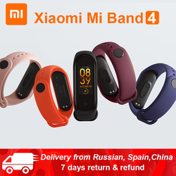 Original Xiaomi mi Band 4 mi band 4 estándar Verion pulsera de Fitness inteligente ritmo cardíaco 50 M natación mi ng impermeable Bluetooth5.0