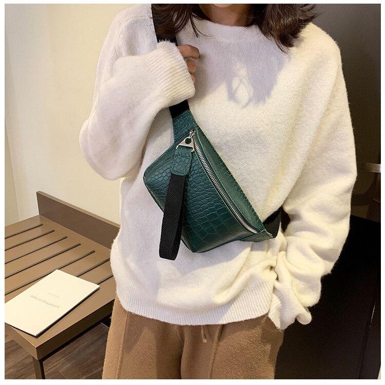 Women Bag Crocodile Multicolor Messenger Chest Bag Clutch Female Pu Leather Handbag Cross Body Bag Fashion High Quality