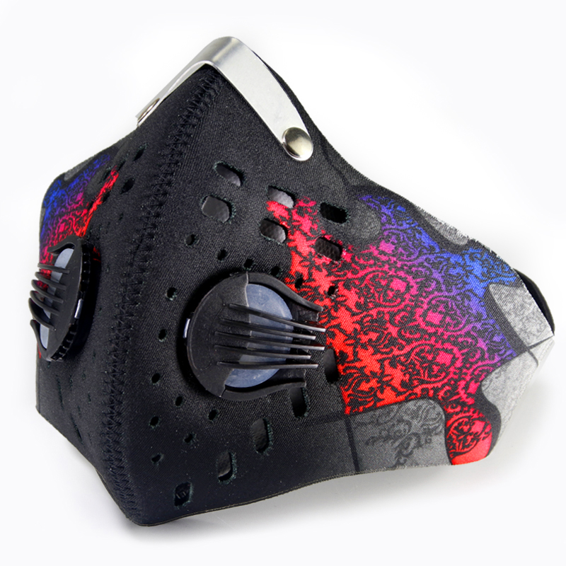 GLORSUN Face Shield Mask Washable High Quality Custom Printed   Breathe Air Breathing Anti Dust Pm2.5 Carbon Filter Mask