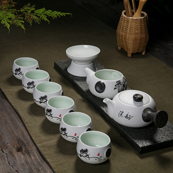 Ceramic Chinese Kung Fu Tea 7 Pcs White Suitable Office Household Tea Cup Set Tetera China Chinese Tea Ceremony Hot Sale MM60CJ