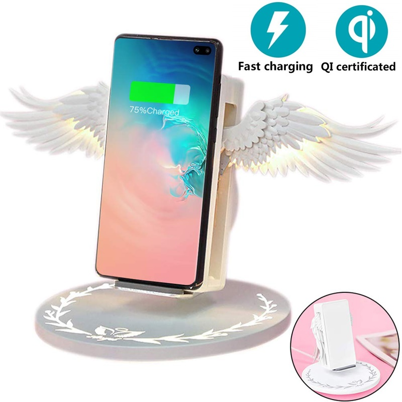 New Magic Angel 10W Qi Wireless Charger For IPhone X 8 Fast Wireless Charging Pad Quick Charge Charger For Samsung S8 S10 Plus