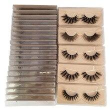 False Eyelashes Wholesale Faux Mink Lashes Natural Full Strip Lashes Bulk Makeup Eyelash Extension Eyelashes Package Box Pack