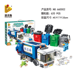 Image 5 - PANLOS 660002 Ideas Series Garbage Classification Sanitation Truck Building Block Bricks Educational DIY Kids Toys For City