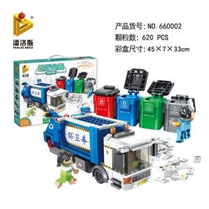Image 5 - PANLOS 660002 ไอเดีย Series ขยะการจำแนกรถบรรทุกสุขาภิบาล Building Block อิฐการศึกษา DIY เด็กของเล่นสำหรับ City