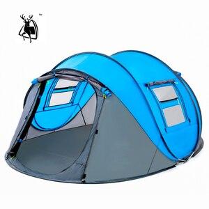 Image 1 - Открытый тент, всплывающие палатки, Открытый Кемпинг, Пешие прогулки, автоматическая сезонная палатка, скоростной непромокаемый семейный пляж, большое пространство, бесплатная доставка
